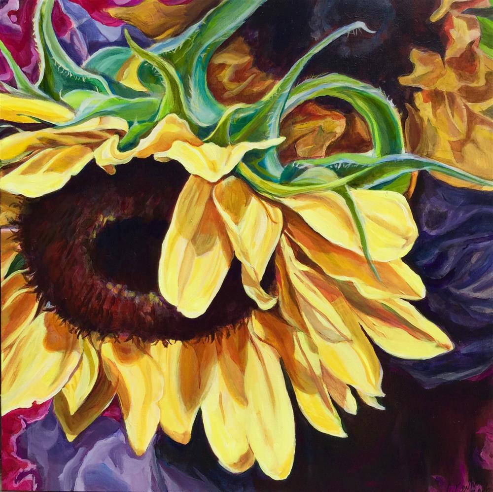 """""""For the Love of Sunflowers"""" original fine art by Lauren Kuhn"""
