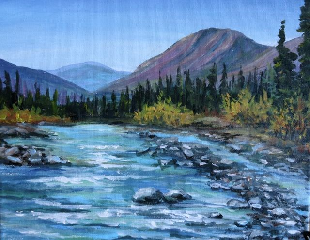 """Ketza River, Yukon"" original fine art by Jackie Irvine"