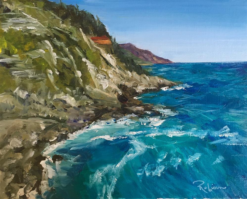 """Rear View in Vernazza"" original fine art by Renee Robison"
