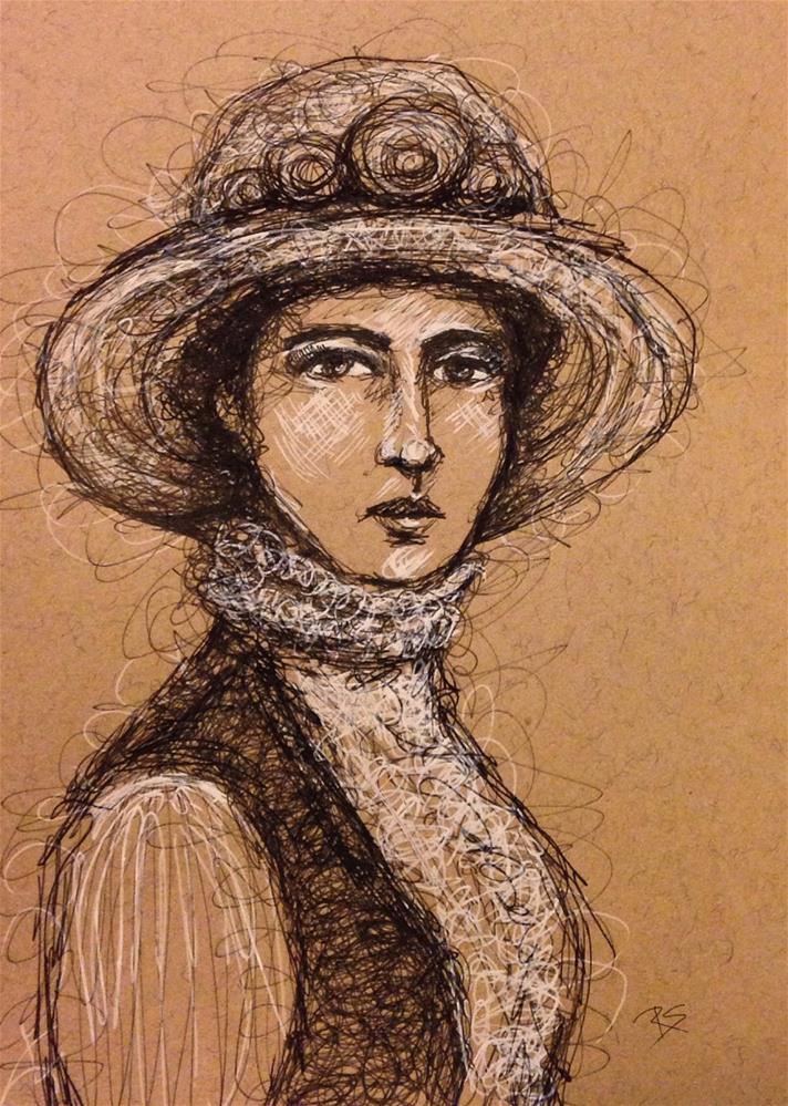 """""""Portrait of Amelia"""" original fine art by Roberta Schmidt"""