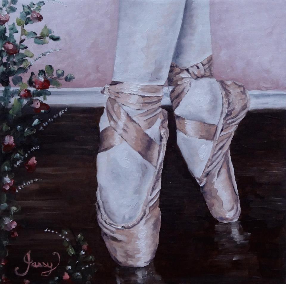 """""""Little ballerina."""" original fine art by Jacinthe Rivard"""
