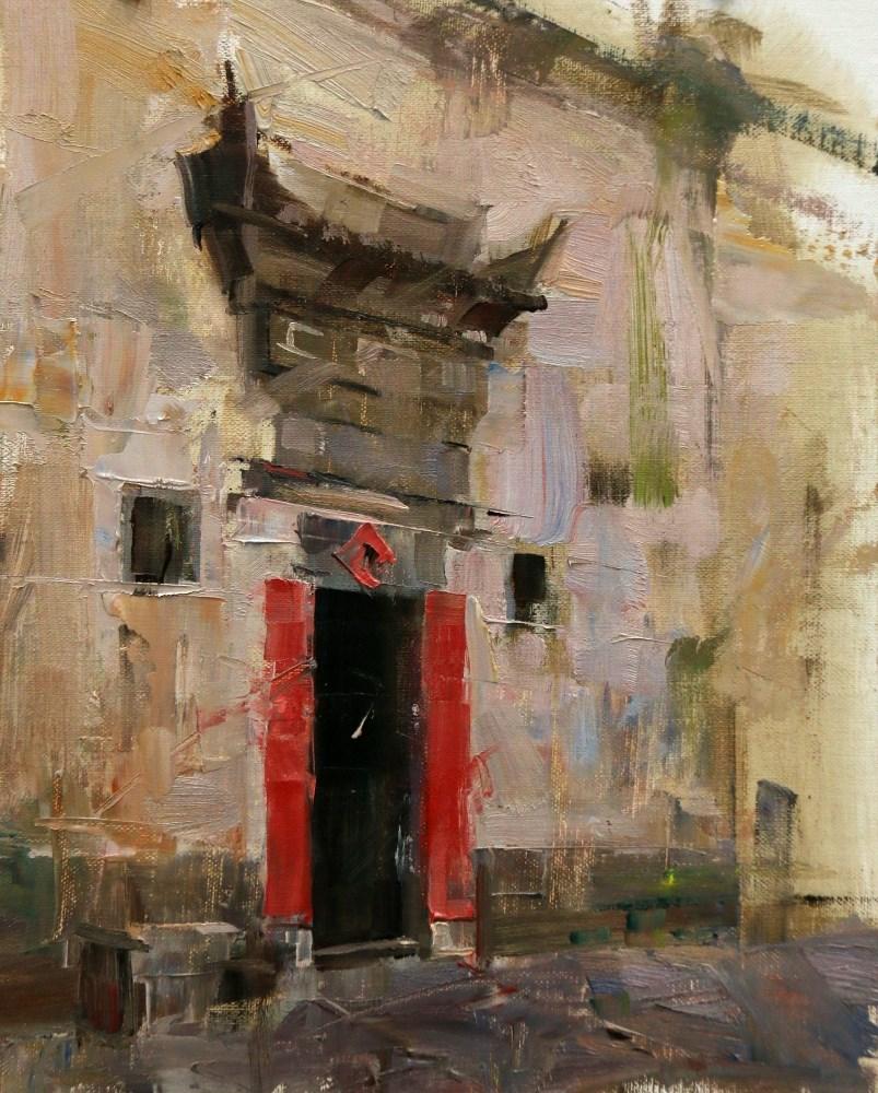 """Xidi Doorway 6"" original fine art by Qiang Huang"