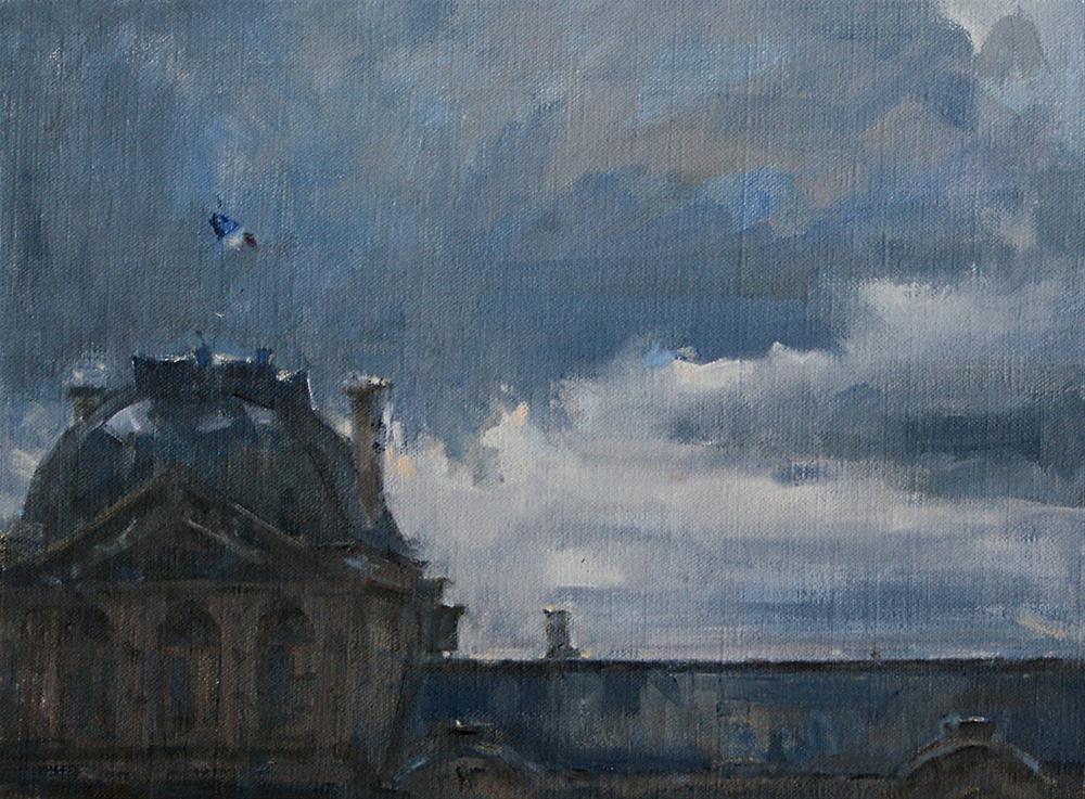 """Louvre"" original fine art by Mike Peterson"