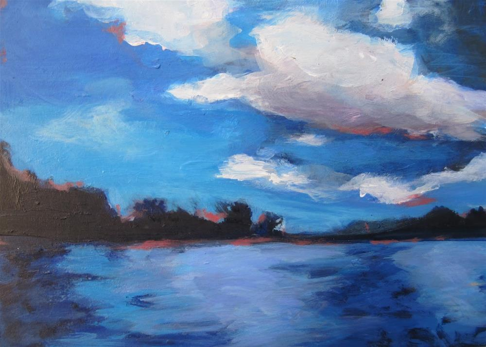 """151 Evening on Wisconsin River"" original fine art by Diane Campion"