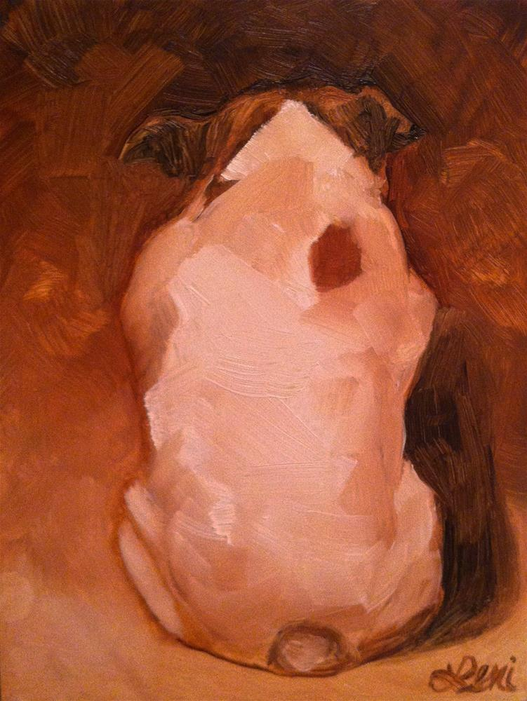 """The Thinker"" original fine art by Leni Tarleton"