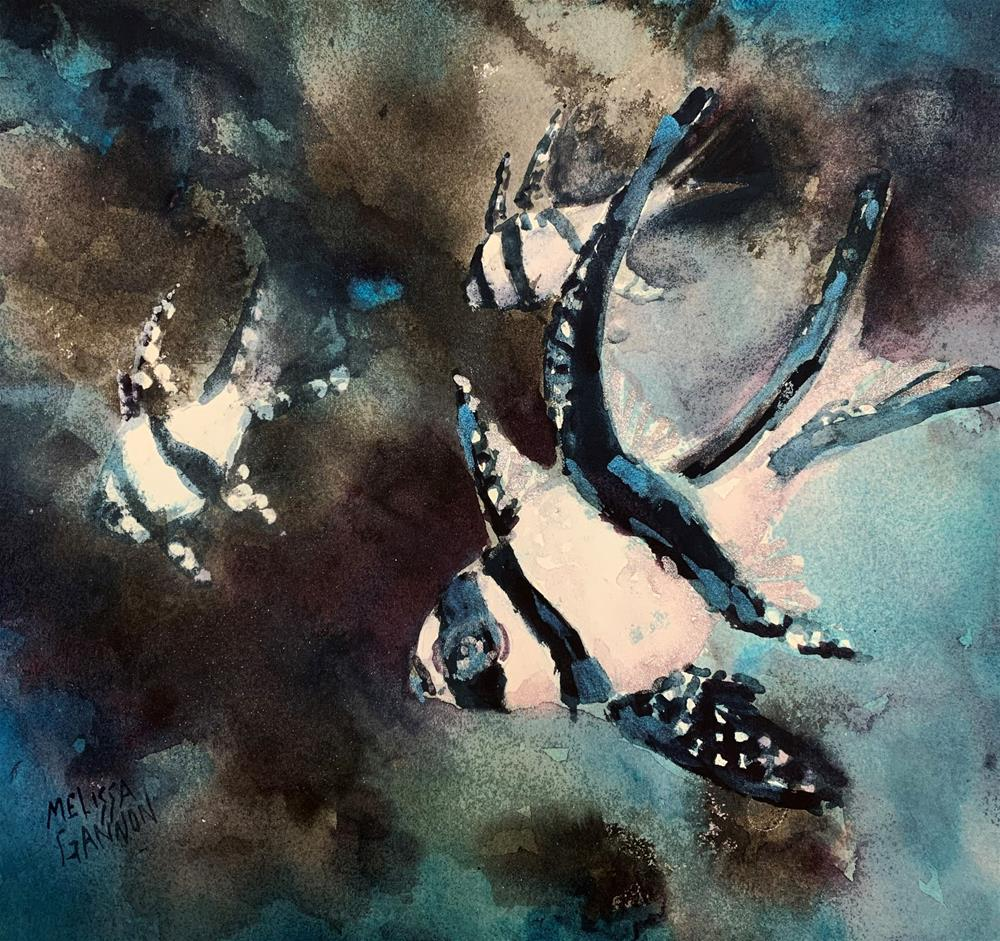 """Swimming Explorations"" original fine art by Melissa Gannon"