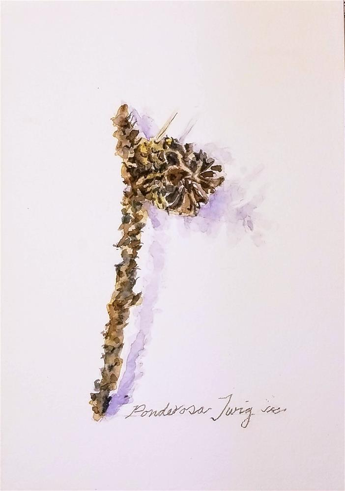 """Twig"" original fine art by Jean Krueger"
