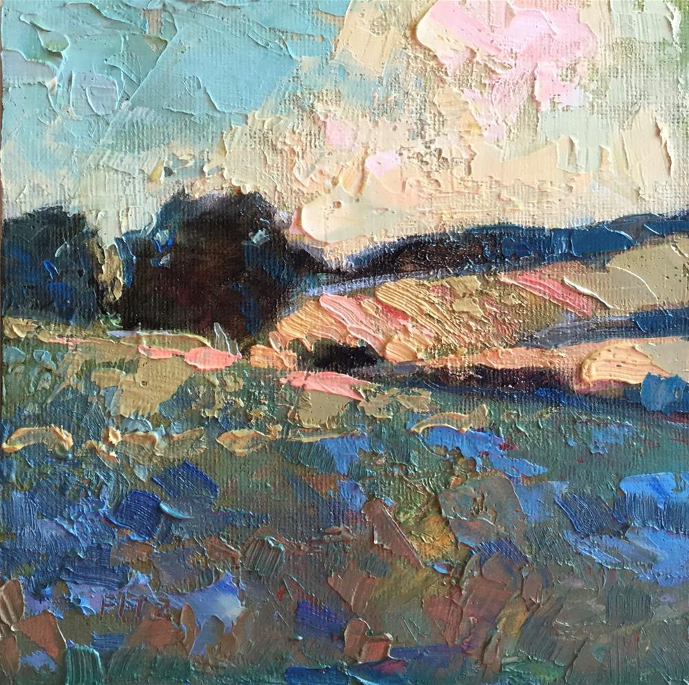 """Impasto Landscape Study 18"" original fine art by Charlotte Fitzgerald"