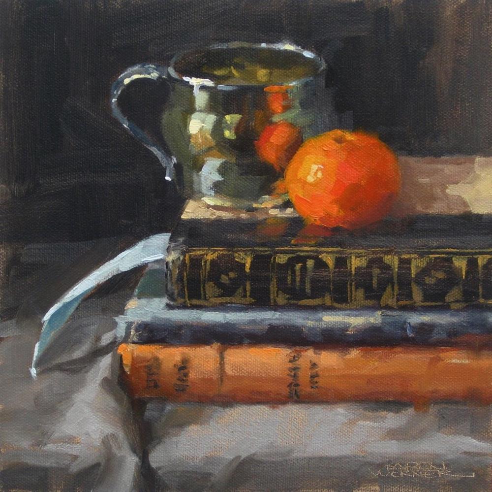 """""""Studied Tangerine"""" original fine art by Karen Werner"""