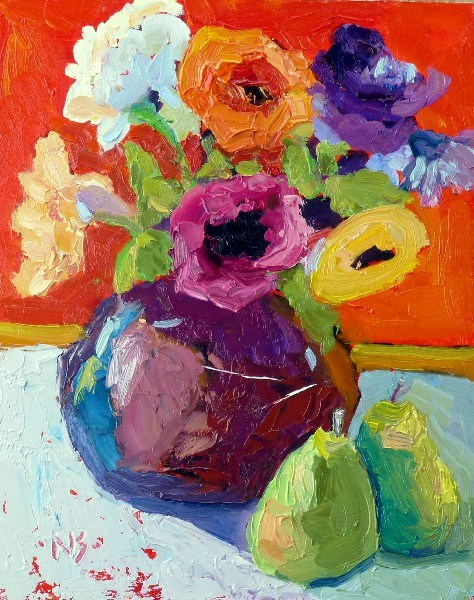 """Bouquets All Around 13025"" original fine art by Nancy Standlee"