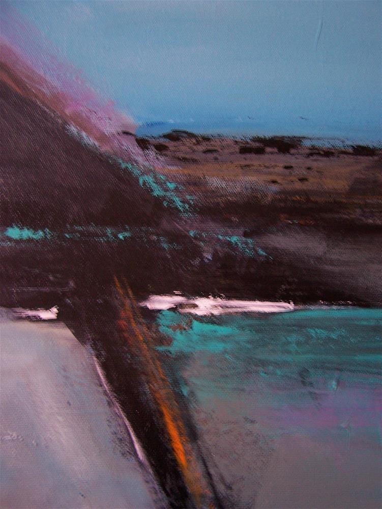 """Abstract Landscape"" original fine art by Joan Reive"