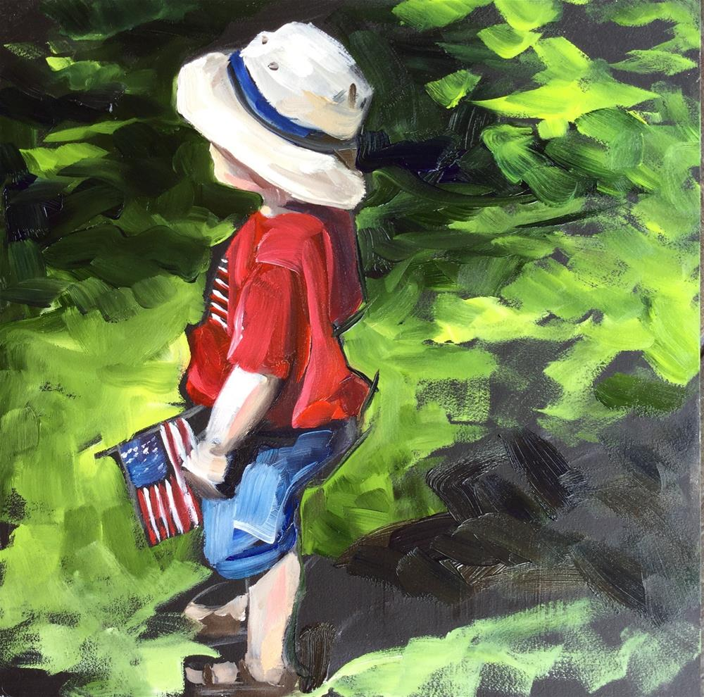 """Patriotism"" original fine art by Lauren Kuhn"