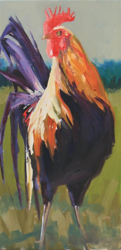 """""""pretentious poultry"""" original fine art by Carol Carmichael"""