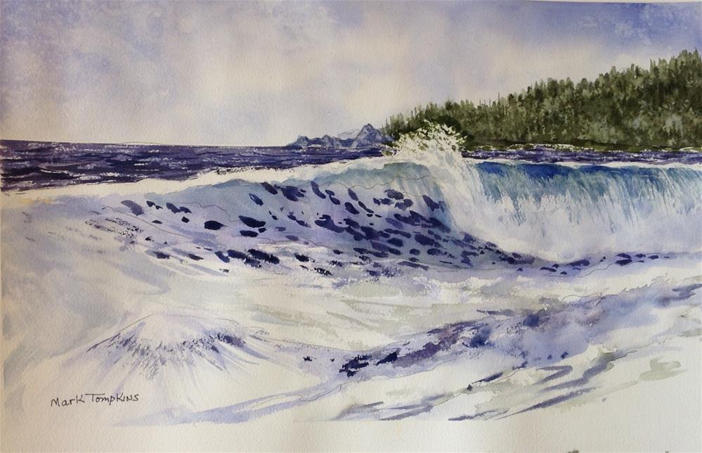 """Ocean Wave"" original fine art by Mark Tompkins"