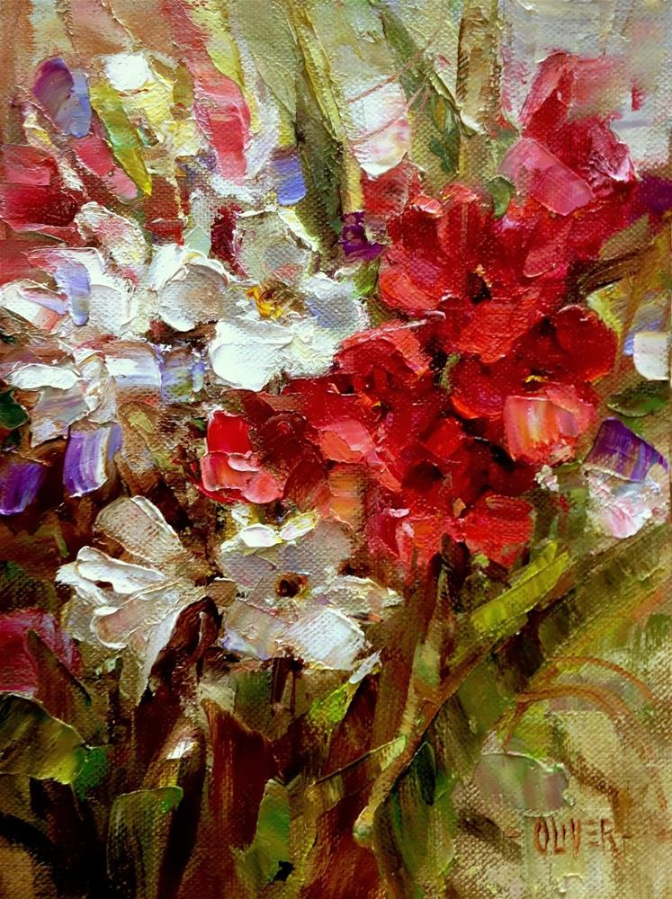 """""""Oleanders From Betty"""" original fine art by Julie Ford Oliver"""