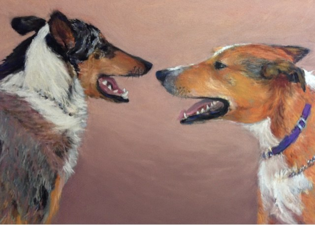 """""""Jack and Lucy"""" original fine art by Cindy Gillett"""