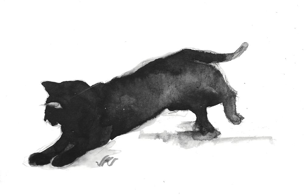 """Daily Cat 111"" original fine art by Jean Krueger"