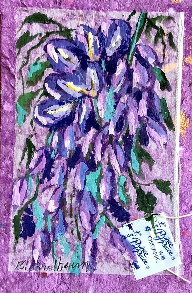 """Wisteria Vine"" original fine art by Linda Blondheim"