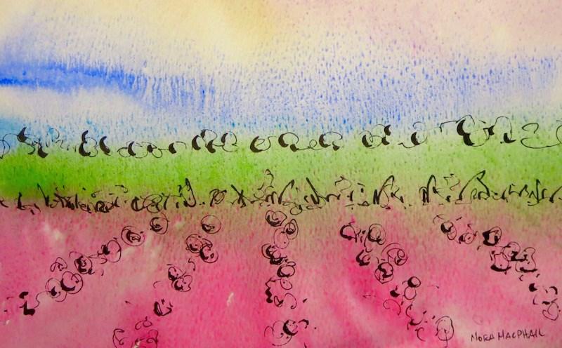 """""""rosie glow"""" original fine art by Nora MacPhail"""