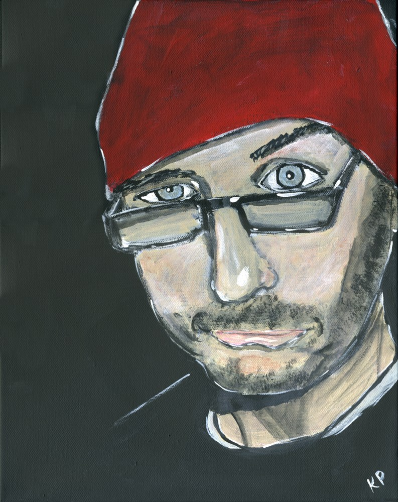 """Skeptical Dave"" original fine art by Kali Parsons"