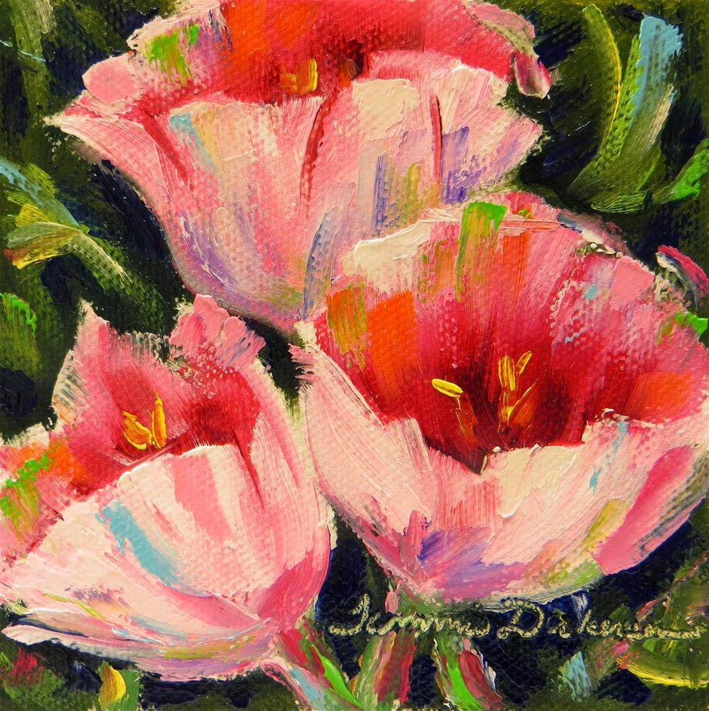 """Pink Tulips"" original fine art by Tammie Dickerson"