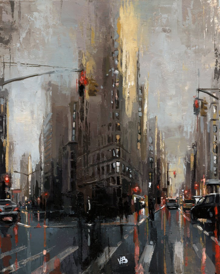 """Flatiron Building"" original fine art by Victor Bauer"