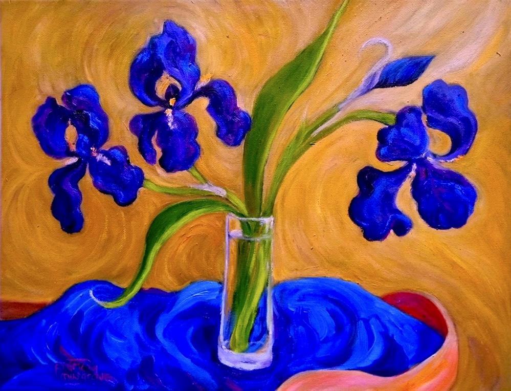"""First Irises"" original fine art by Patricia Musgrave"