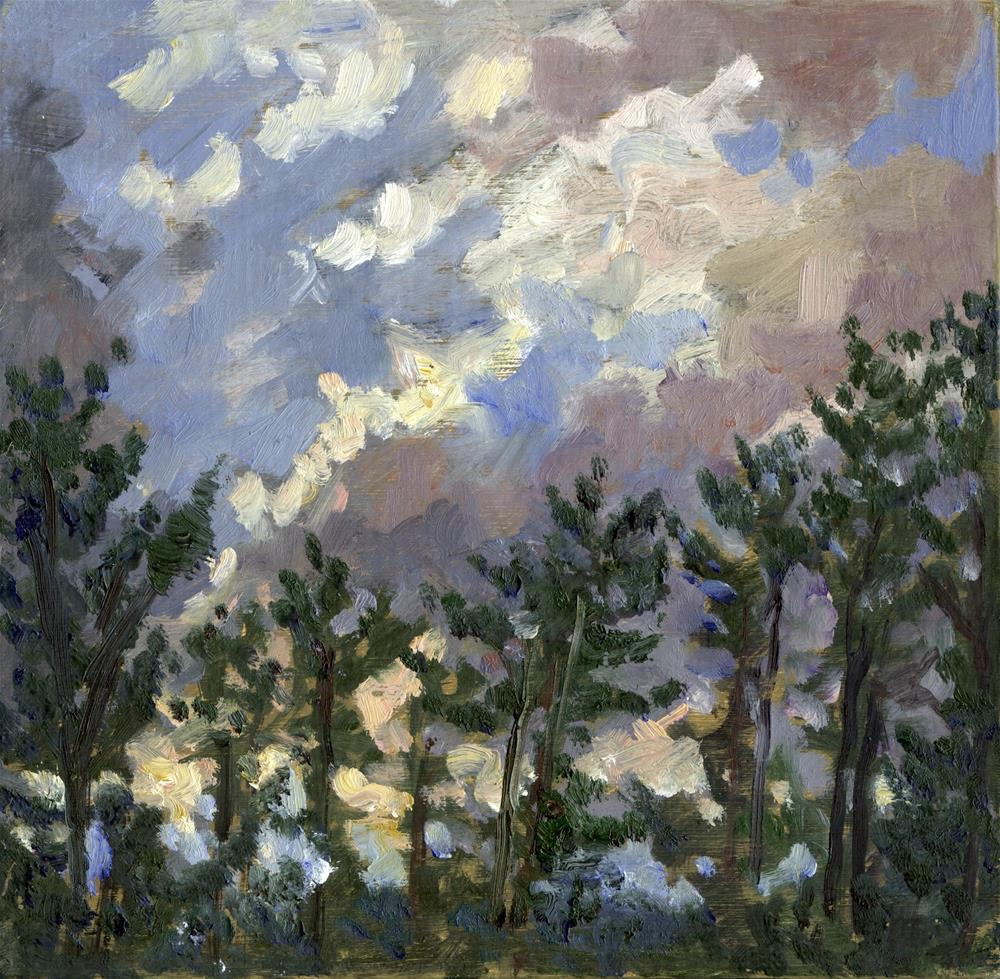 """""""Clouds Over Pines, Tanglewood"""" original fine art by Thor Wickstrom"""