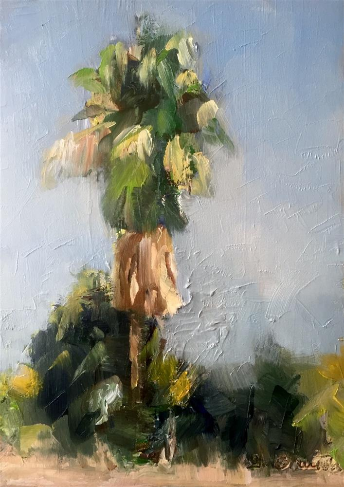 """Palm Plein air"" original fine art by Gary Bruton"
