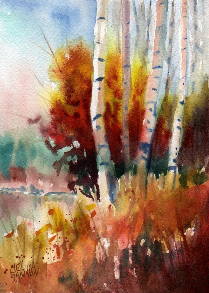 """Golds & Reds of Autumn"" original fine art by Melissa Gannon"