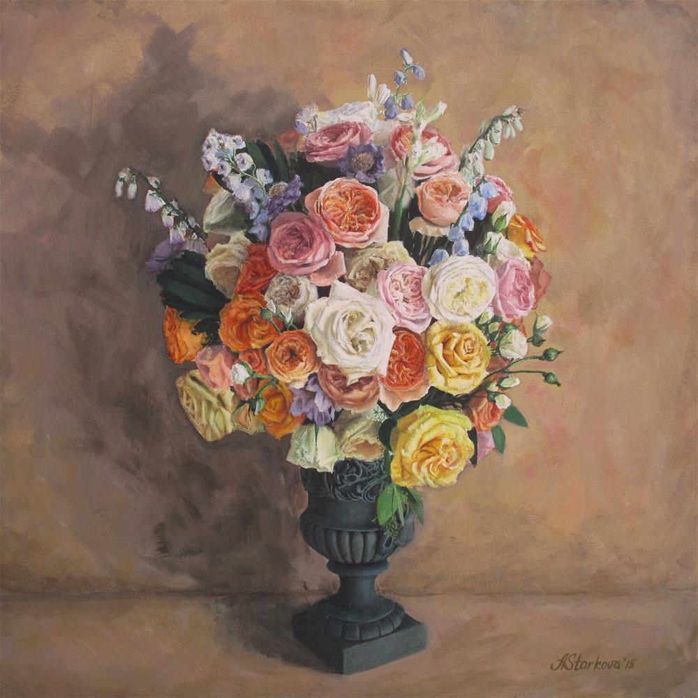 """Floral liaisons"" original fine art by Anna Starkova"
