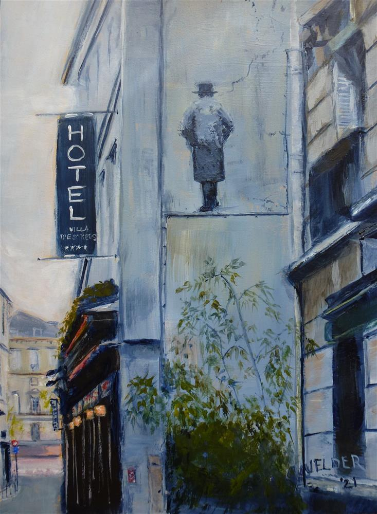 """Paris No. 131, Hotel Villa d'Estrees"" original fine art by Judith Elder"