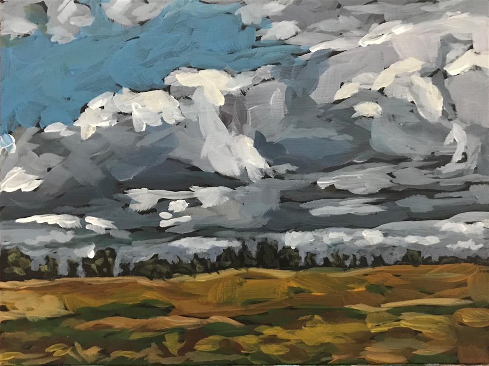"""""""Baltic Sky"""" original fine art by Gina Garding"""
