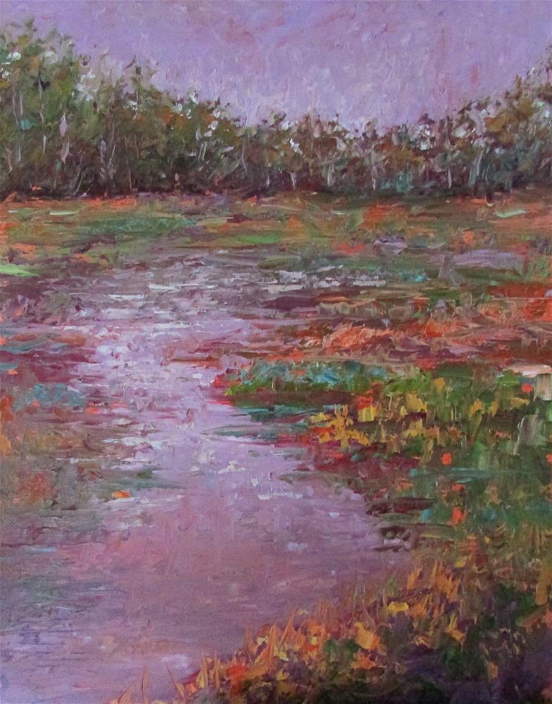 """8 x 10 inch oil Fall Colors #3"" original fine art by Linda Yurgensen"