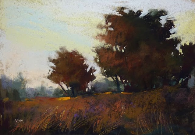 """Choosing Paper for Pastel Painting"" original fine art by Karen Margulis"