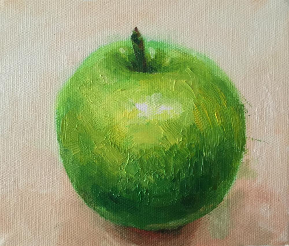 """""""apple"""" original fine art by Joy Cai"""