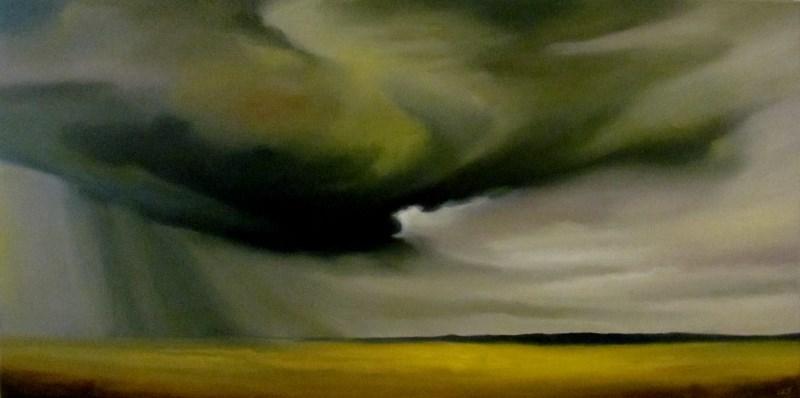 """Rain Over Canola Field"" original fine art by ~ces~ Christine E. S. Code"