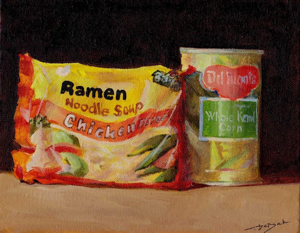 """quick food"" original fine art by Mark DeBak"