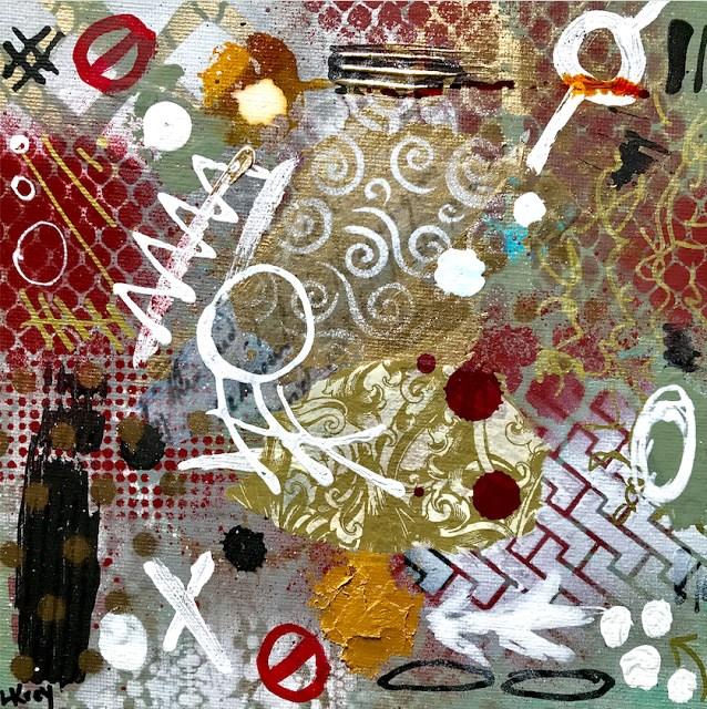 """#muslimban Original Modern Contemporary Mixed Media Political Abstract Painting Art by Lisa Kreymb"" original fine art by Lisa Kreymborg"