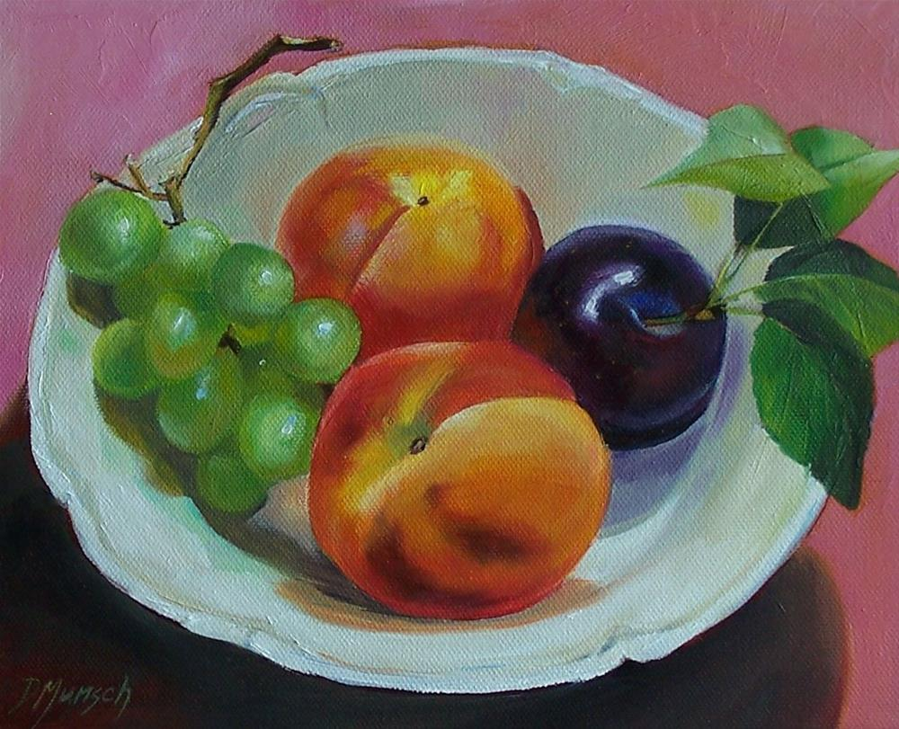 """""""Fruit Bowl"""" original fine art by Donna Munsch"""