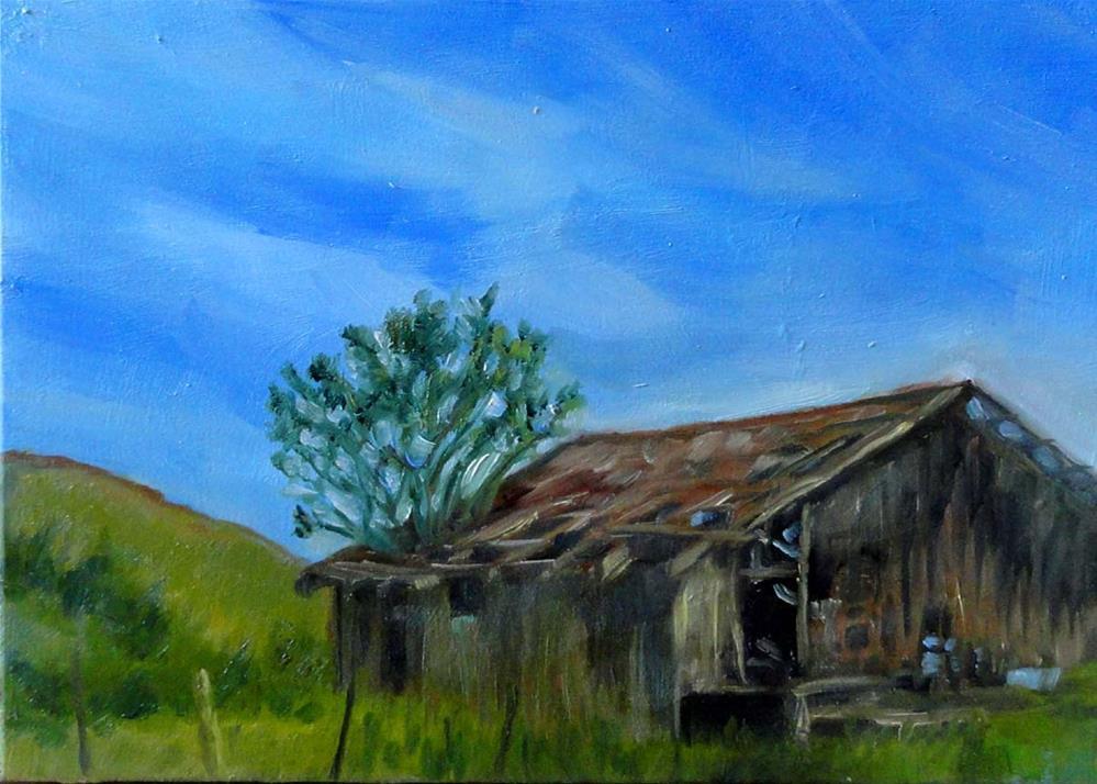 """Old Barn, New Life"" original fine art by Cietha Wilson"