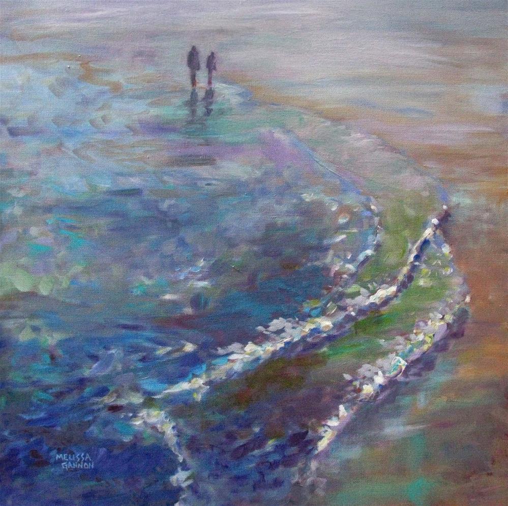 """A Moment on the Beach"" original fine art by Melissa Gannon"