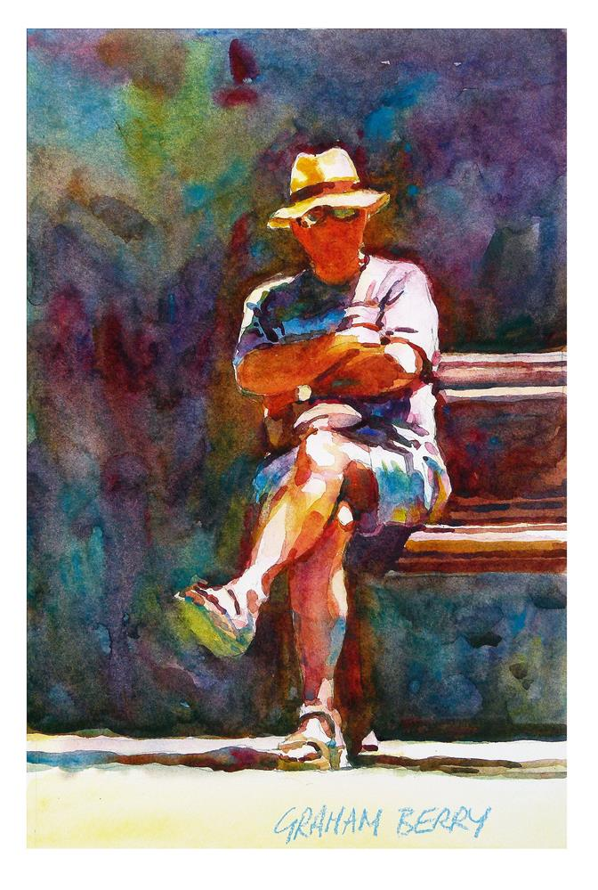 """The spectator."" original fine art by Graham Berry"