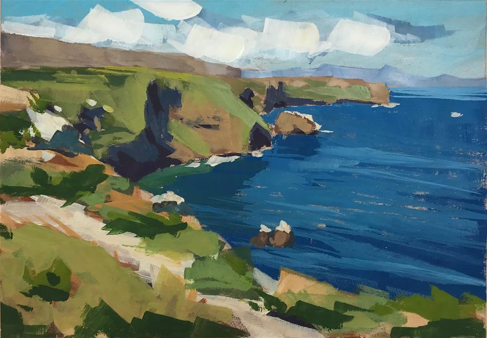 """Anacapa Coastline"" original fine art by Sharon Schock"