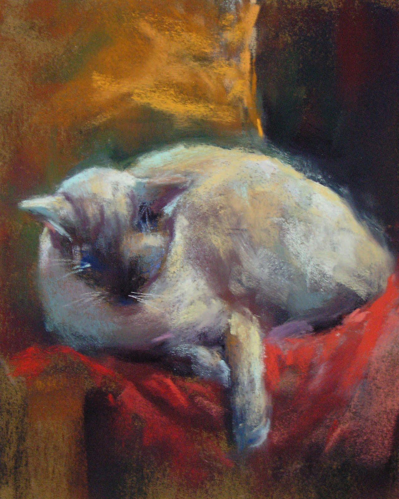 """""""My other Siamese Cat Maya"""" original fine art by Karen Margulis"""