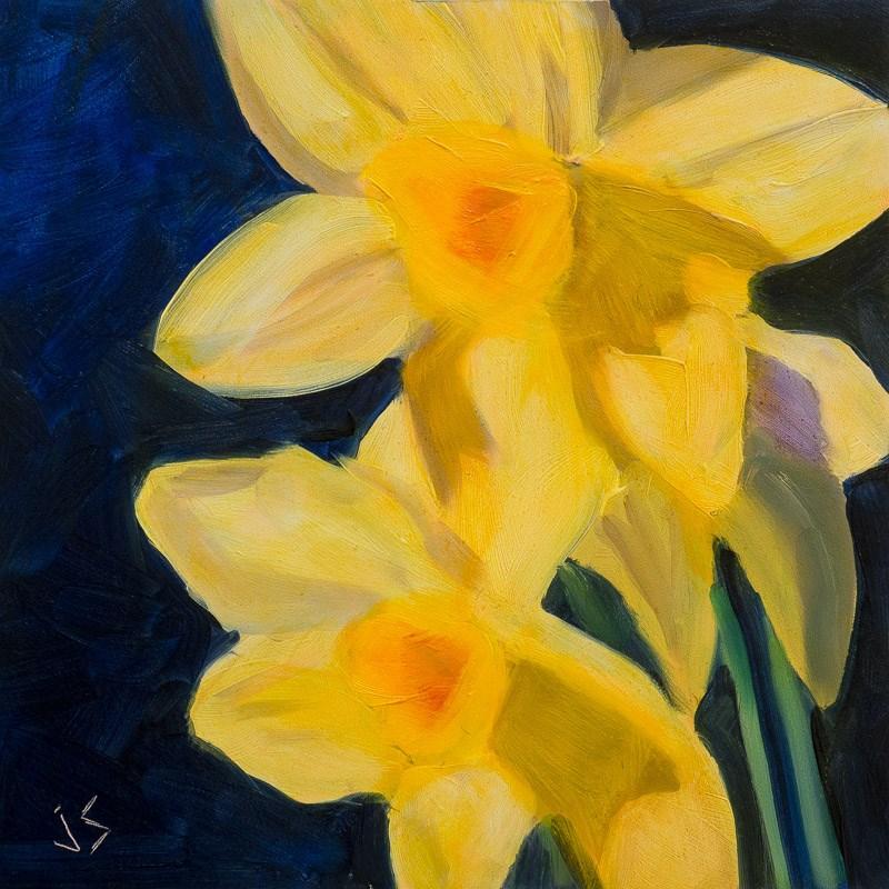 """Daffodil Two"" original fine art by Johnna Schelling"