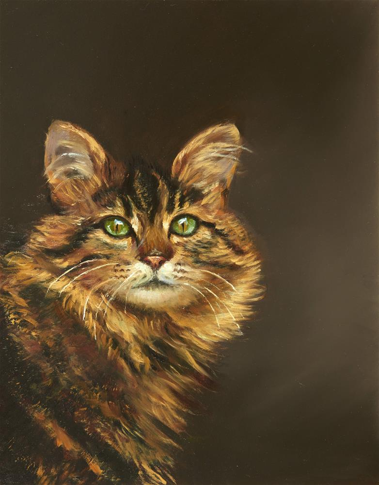 """Maine Coon"" original fine art by Lisa Wald"