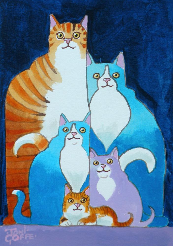 """""""A Nuclear Family"""" original fine art by Toni Goffe"""