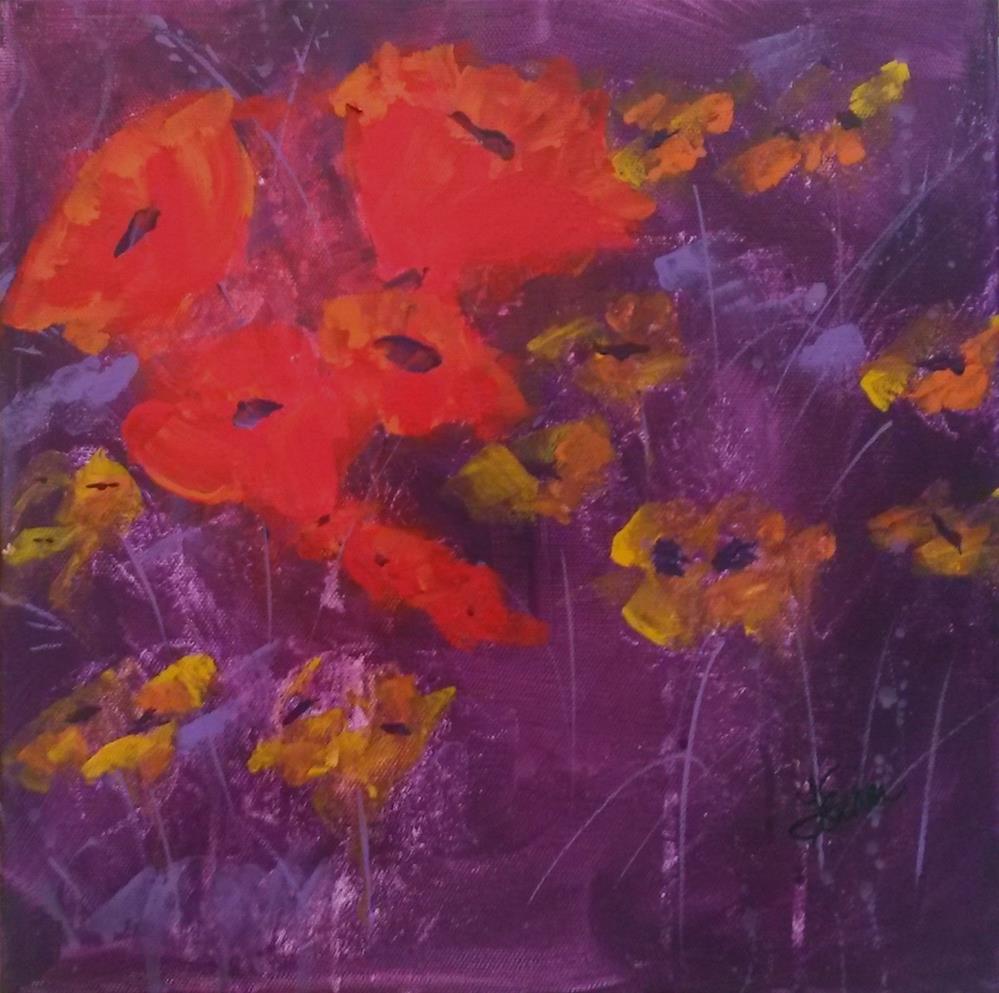 """""""Red's My Color"""" original fine art by Terri Einer"""