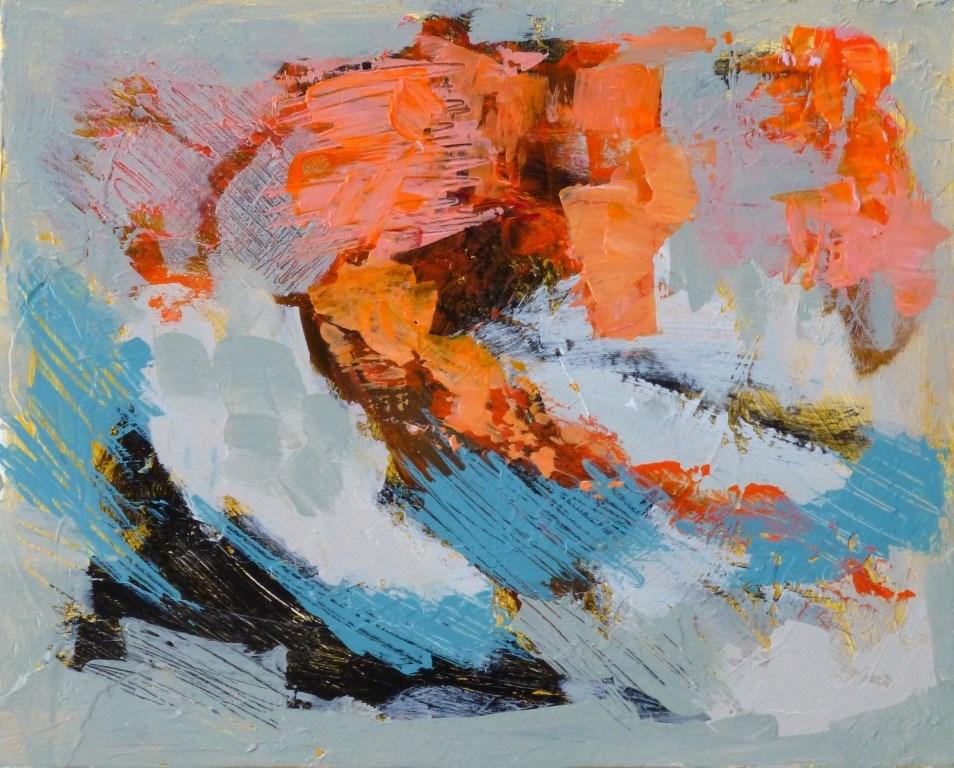 """Blue Abstract 15014"" original fine art by Nancy Standlee"